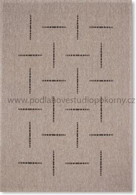 kusový koberec FLOORLUX Silver/Black