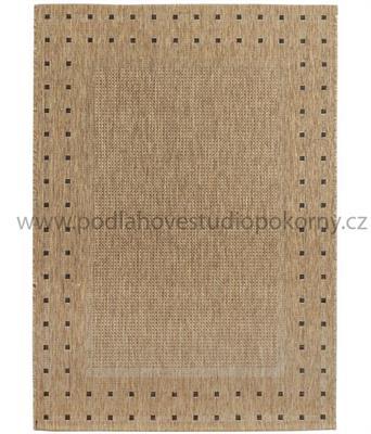 kusový koberec FLOORLUX 3 coffee/black
