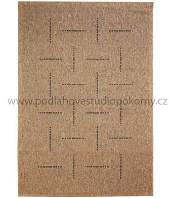 kusový koberec FLOORLUX coffee/black