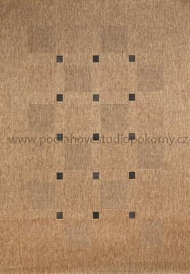 kusový koberec FLOORLUX 2 coffee/black