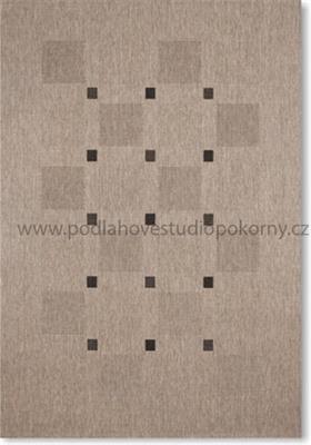kusový koberec FLOORLUX 2 Silver/Black