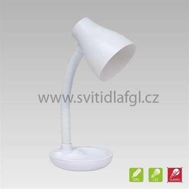 Stolní lampa PEGGY bílá