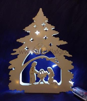 Svícen stromek s betlémem