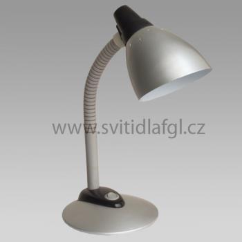 Stolní lampa JOKER stříbrná matná