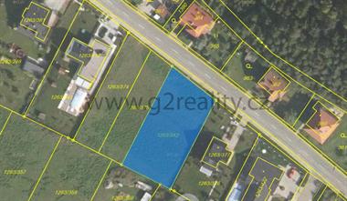 Prodej pozemku 1118 m2 v obci Hvozdná