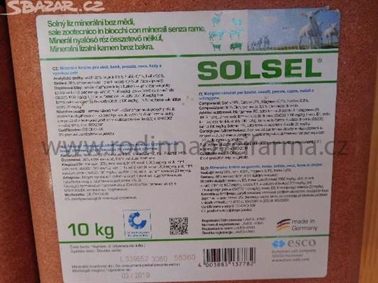minerální liz SOLSEL mineral bez mědi