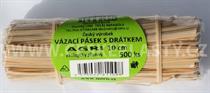 Vázací pásek zahradnický s drátkem AGRI&GARDEN dělený ve svazku 10 cm/ 500 ks
