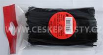 Vázací pásek s drátkem TECHNO černý dělený v sáčku 12,5 cm/ 500 ks