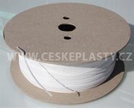 Vázací pásek s drátkem TECHNO bílý, ve velkometrážním návinu na cívce 1 000 m
