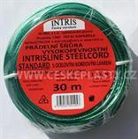 Šňůra na prádlo s ocelovým lankem vysokopevnostní INTRIS STANDARD 30 m