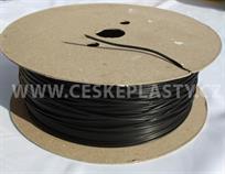 Vázací pásek s drátkem TECHNO černý, v návinu na cívce 1 000 m