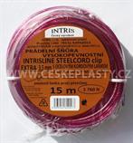 Šňůra na prádlo 3,5 mm s ocelovým lankem a svorkami EXTRA CLIP 15 m