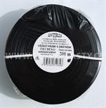 Vázací pásek s drátkem TECHNO černý v kotouči 200 m