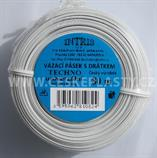 Vázací pásek s drátkem TECHNO bílý v kotouči 80 m