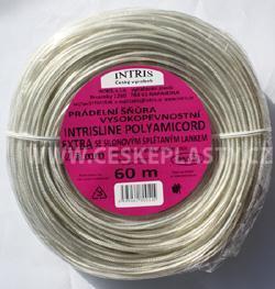 Vysokopevnostní šňůra na prádlo se silonovým lankem 3 mm INTRISLINE POLYAMICORD EXTRA 60 m