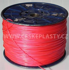 Vysokopevnostní prádelní šňůra se silonovým kordovým lankem a ocelovou strunou 3 mm EXTRA STEEL červená