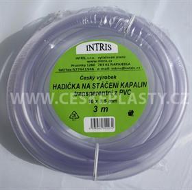 Hadička PVC na stáčení  s hladkou vnitřní stěnou 3 m