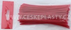 Vázací pásek s drátkem TECHNO COLOR červený