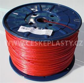 Prádelní šňůra s ocelovým lankem INTRISLINE STEELCORD EXTRA 3,5 mm v návinu na cívce červená