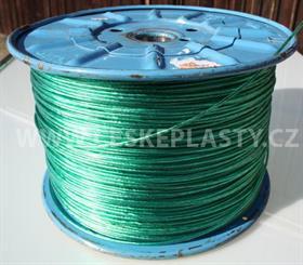 Prádelní šňůra s ocelovým lankem INTRISLINE STEELCORD EXTRA 3,5 mm v návinu na cívce zelená