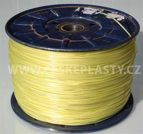 Vysokopevnostní prádelní šňůra se silonovým kordovým lankem a ocelovou strunou 3 mm EXTRA STEEL žlutá