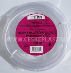 Hadička PVC na stáčení  s hladkou vnitřní stěnou 1,5 m