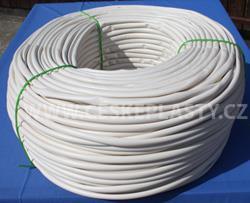 Bužírka izolační a ochranná 20,0 x 0,5 mm, 80 ShA, bílá, různé délky návinů