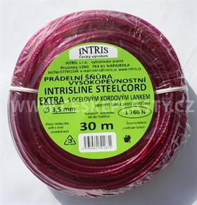 Vysokopevnostní šňůra na prádlo s ocelovým lankem STEELCOR EXTRA 3,5 mm 30 m
