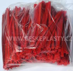 Klipovací páska 8 mm dělená 1000 ks červená