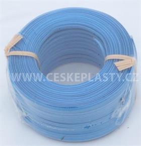 Vázací pásek s drátkem TECHNO COLOR modrý
