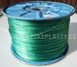 Prádelní šňůra s ocelovým lankem INTRISLINE STEELCORD STANDARD v návinu na cívce zelená
