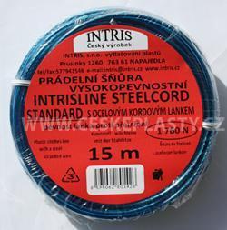 Značková vysokopevnostní prádelní šňůra s ocelovým lankem INTRISLINE STEELCOR STANDARD 15 m