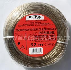 Značková šňůra do sušáku s ocelovým lankem INTRISLINE STEELCORD STANDARD 52 m