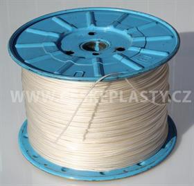 Vysokopevnostní šňůra na prádlo se silonovým lankem 3 mm INTRISLINE POLYAMICORD EXTRA bílá