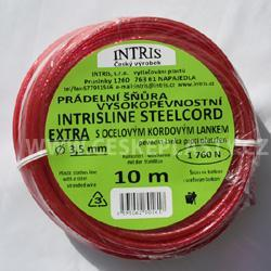 Vysokopevnostní šňůra na prádlo s ocelovým lankem a lanovými svorkami INTRISLINE STEELCORD STANDARD CLIP 10 m