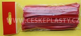 Klipovací páska 8 mm dělená 100 ks červená