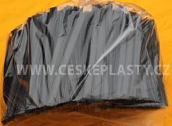 Klipovací páska 8 mm dělená 100 ks černá