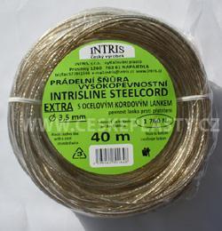 Vysokopevnostní šňůra na prádlo s ocelovým lankem STEELCOR EXTRA 3,5 mm 40 m