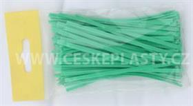 Vázací pásek s drátkem TECHNO COLOR zelený