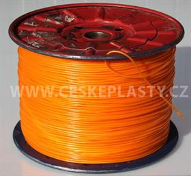 Vysokopevnostní prádelní šňůra se silonovým kordovým lankem a ocelovou strunou 3 mm EXTRA STEEL oranžová