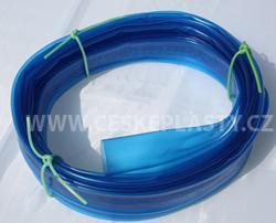 Bužírka ochranná transparentní modrá
