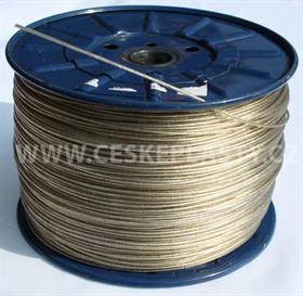 Prádelní šňůra s ocelovým lankem INTRISLINE STEELCORD EXTRA 3,5 mm v návinu na cívce skelně čirá