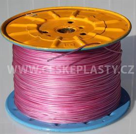 Vysokopevnostní prádelní šňůra se silonovým kordovým lankem a ocelovou strunou 3 mm EXTRA STEEL fialová