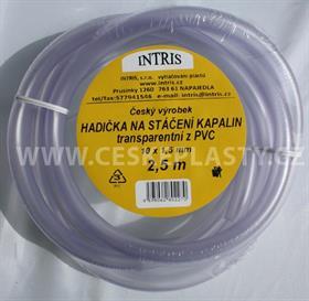 Hadička PVC na stáčení  s hladkou vnitřní stěnou 2,5 m