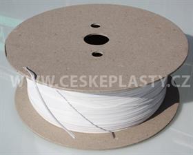 Vázací pásek se dvěma drátky TECHNO TWIN bílý na cívce 600 m