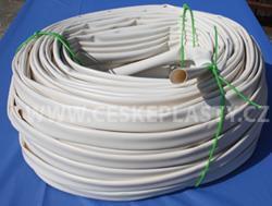 Bužírka izolační a ochranná 25,0 x 0,5 mm, 80 ShA, bílá, různé délky návinů