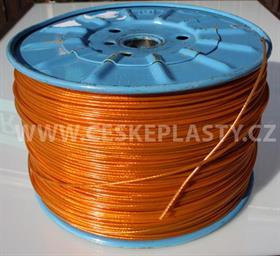 Prádelní šňůra s ocelovým lankem INTRISLINE STEELCORD EXTRA 3,5 mm v návinu na cívce oranžová