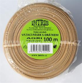 Vázací pásek s drátem AGRI&GARDEN v kotouči 100 m