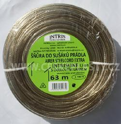 Vysokopevnostní šňůra do sušáku s ocelovým lankem INTRISLINE AIRER STEELCORD EXTRA 3,5 mm 63 m