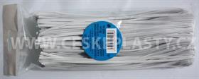 Vázací pásky s drátkem TECHNO bílé dělené 20 cm/500 ks v sáčku